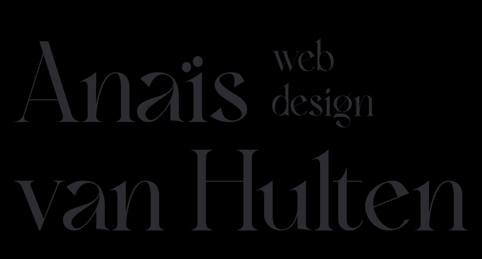 Anais van Hulten webdesign logo